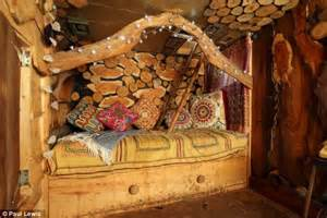 hobbit furniture builds his children bespoke hobbit house daily