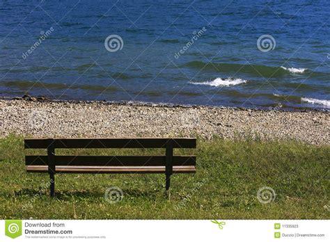 bench lake bench at the lake stock image image of nature sitting