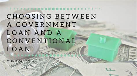 Choosing Between a Government Loan and a Conventional Loan