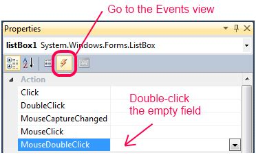 game design event handler winforms how do i add a mousedoubleclick event handler
