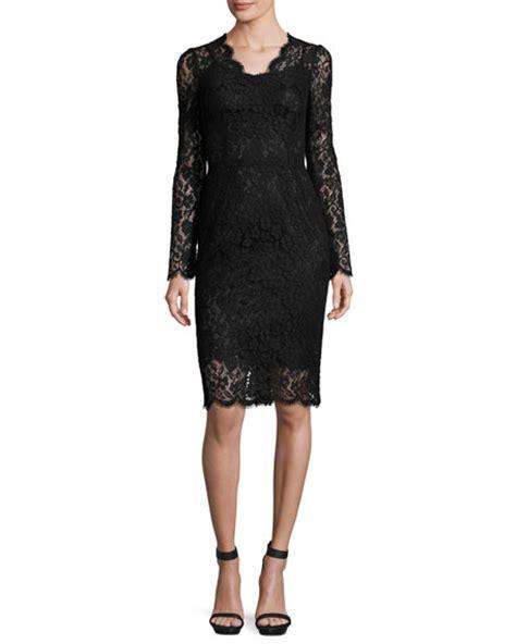 Lace Sleeve V Neck Sheath Dress dolce gabbana lace sleeve v neck sheath dress