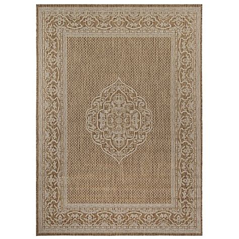 Bed Bath Beyond Area Rugs Medallion Border 5 Foot 3 Inch X 7 Foot 10 Inch Indoor Outdoor Area Rug In Bed Bath Beyond