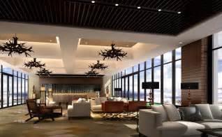 Interior design rendering hotel round restaurant lobby interior design