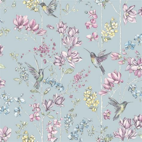 Shabby Chic Floral Wallpaper In Various Designs Wall Decor Shabby Chic Floral Wallpaper