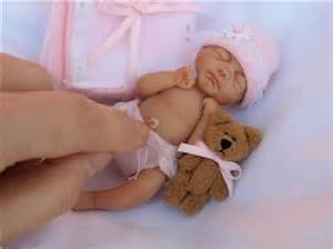 Ooak hand sculpted miniature polymer clay baby girl pocketbabies