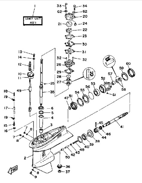 yamaha lower unit diagram diagram of 1969 33el69a johnson outboard lower unit