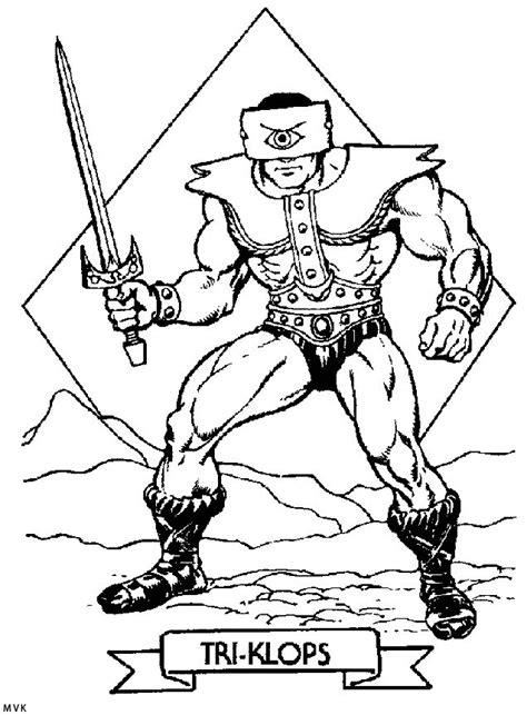 he man and the masters of the universe coloring pages