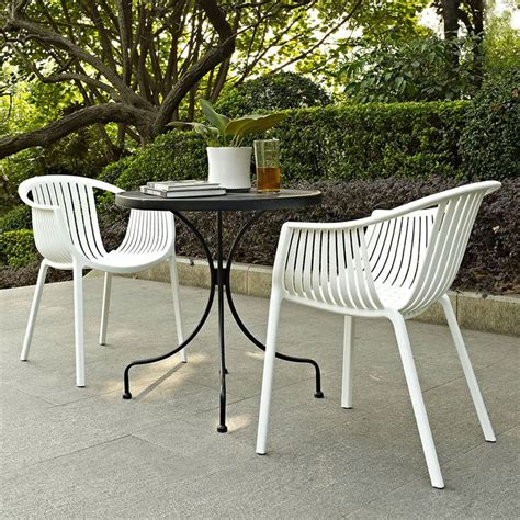 White Patio Dining Table And Chairs White Outdoor Dining Chairs Patio Table And Plastic Metal Orlanpress Info