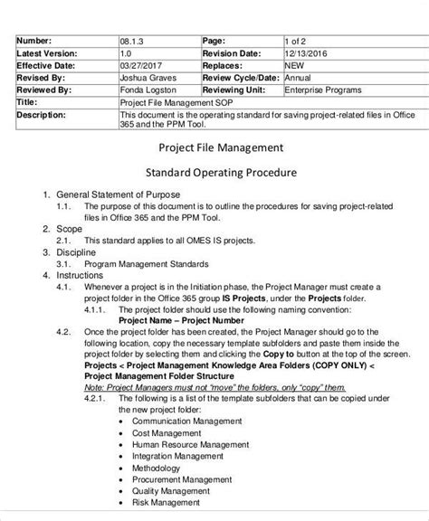 23 images of sop template for project managers infovia net