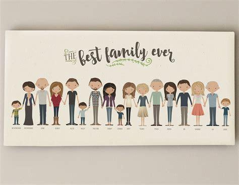 good cheap gifts for extended family extended family portrait grandparent gift custom family illustration present