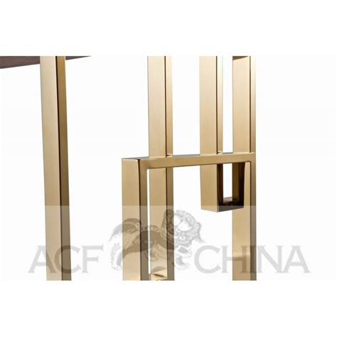 steel top dining table stainless steel dining table with wood top acf china