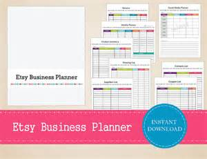 etsy business plan template printable etsy business planner small business planner
