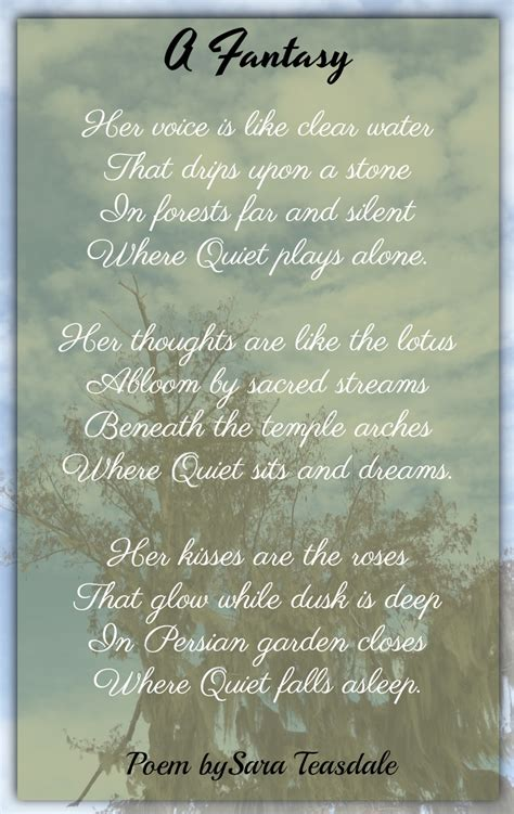 sara teasdale poems classic famous poetry