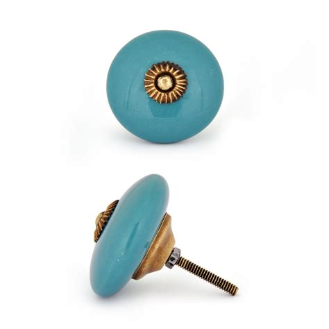 Ceramic Cabinet Knob by Potteryville Turquoise Ceramic Cabinet Knob Low Price