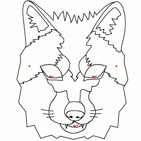 wolf mask coloring page animals pictures picture tags wolf mask carnical