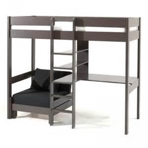 lit mezzanine avec fauteuil quot pino quot taupe