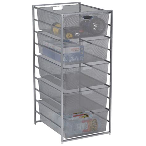 Container Store Elfa Drawers platinum elfa mesh garage drawers the container store