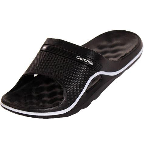 womens slide slippers womens cushion slip on sandals slides house shoes flip