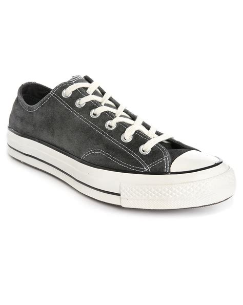 converse grey sneakers converse 70s chuck grey suede sneakers in gray for