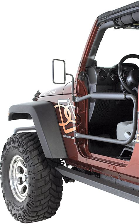 Wrangler Safari Doors by Olympic 4x4 Products Front Safari Doors For 07 17 Jeep