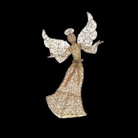 lighted angel outdoor christmas decorations home accents holiday 70 in led lighted brown grapevine