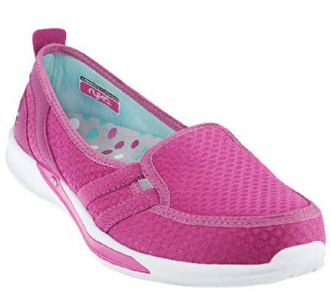 ryka slip on sneakers ryka mesh slip on sneakers a264657 qvc