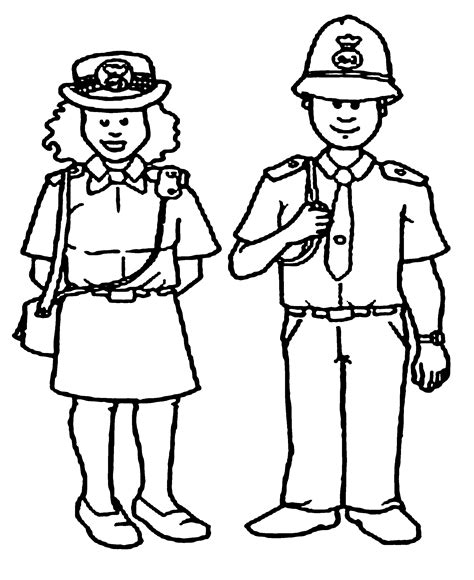 Free To Cop Coloring Pages Coloring Pages Of Officers