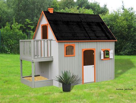 maisonnette enfant jardin maisonnette enfant en bois duplex mezzanine achat pas cher egt