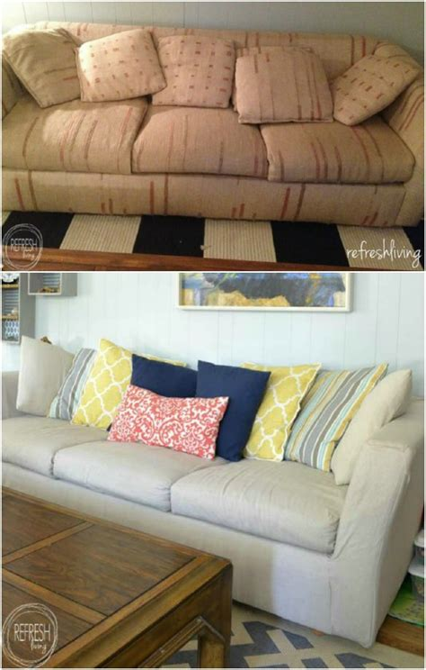 easy diy couch slipcover 20 easy to make diy slipcovers that add new style to old