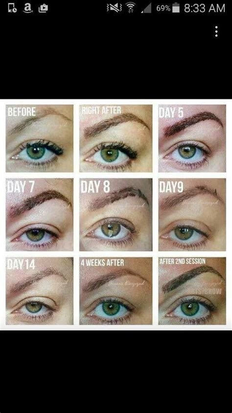 microblading  common stages  healing