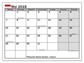 Kalender 2018 Hessen Kostenlos Kalender Zum Ausdrucken Mai 2018 Feiertage In Hessen