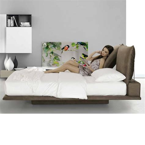 bed with soft headboard regolo soft double bed with reclining headboard hand made