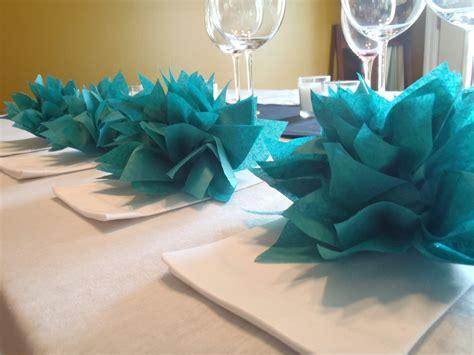 wedding bathroom decorations 25 teal paper dahlia napkin holders eco wedding hip parties