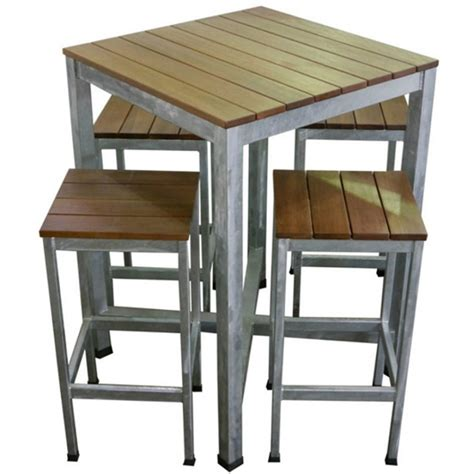 Outdoor Table And Stools by Outdoor Wooden Bar Tables And Stools Metal Pub Patio