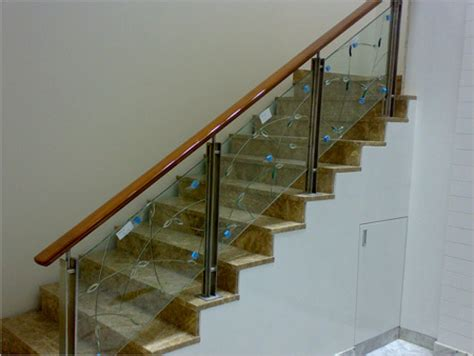 Contemporary Banisters And Handrails Vijay Aluminium Steel Railing With Glass