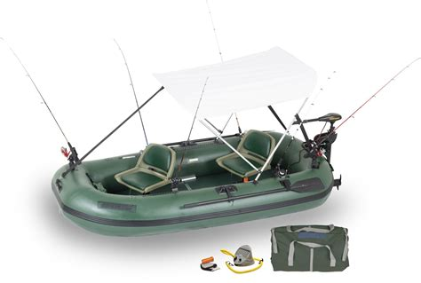 repair bass hunter boats sea eagle sts10 2 person inflatable fishing boats package