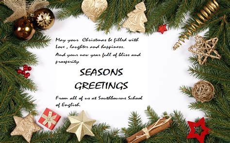 seasons greetings southbourne school of english
