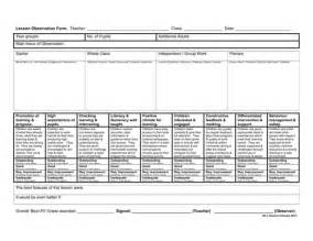 lesson plan observation template graded observation form and lesson plans by sophiegreaves