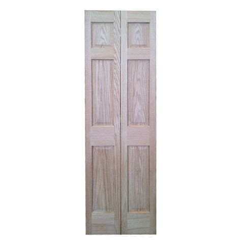 36 Bifold Closet Doors 36 In X 80 In 6 Panel Solid Oak Interior Closet Bi Fold Door 6p Ro Bf36 The Home Depot