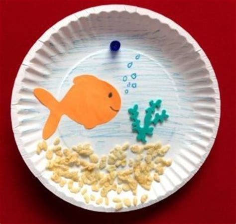 Paper Fish Bowl Craft - paper plate fish bowl craft preschool items juxtapost