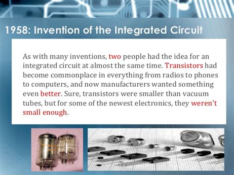 the inventor of the integrated circuit invention of the integrated circuit 28 images site of invention of the commercially