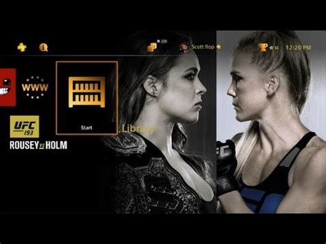 ps4 themes ufc ufc 193 ronda rousey vs holly holm free ps4 theme now