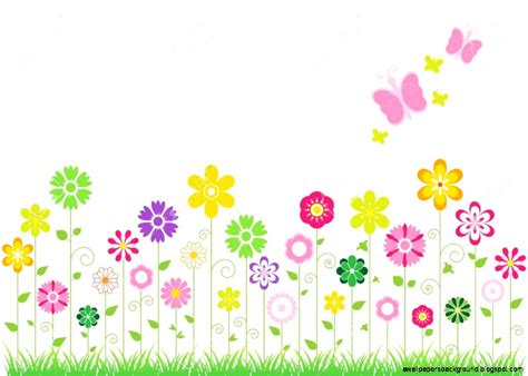 flowers and butterflies border wallpapers background