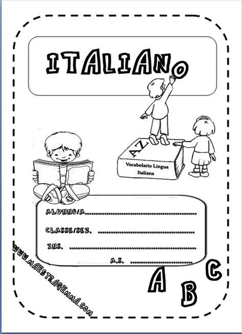 cornici per quaderni copertina di italiano