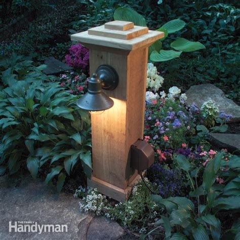 How To Install Outdoor Lighting And Outlet The Family How To Install An Outdoor Light Post
