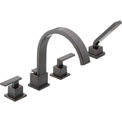 Bath Faucet With Handshower by Delta Vero 2 Handle Deck Mount Tub Faucet With