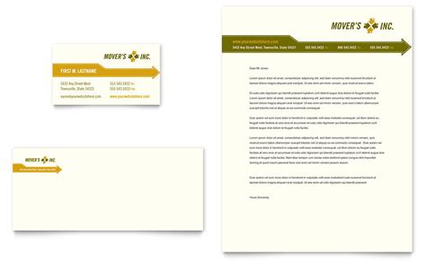 word template design services moving service business card letterhead template word