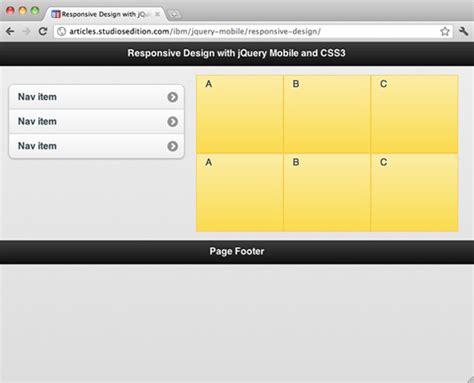 jquery mobile layout design implemente design responsivo com jquery mobile e css3