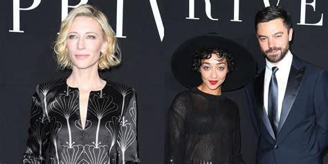 Giorgio Armani And Cate Blanchett Attend Armani Ginza Towers Light Up Ceremony by Cate Blanchett Ruth Negga Attend Giorgio Armani Fashion