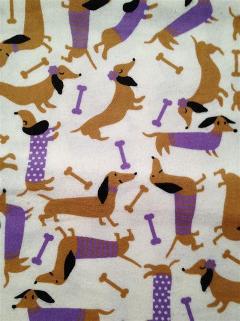 printable felt fabric dachshund print flannel fabric